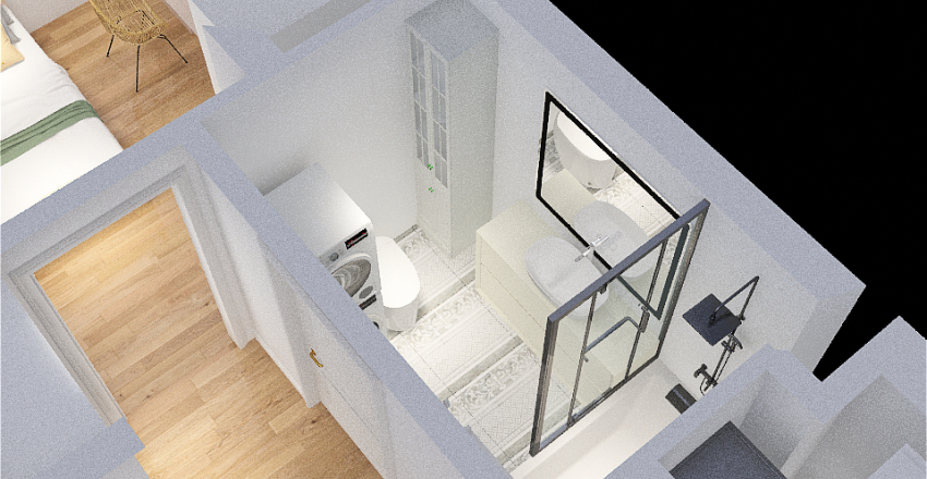 lodówka w zabudowie Interior Design Render