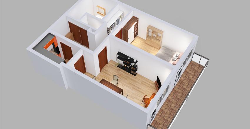 Jeřabinova - Praha Interior Design Render