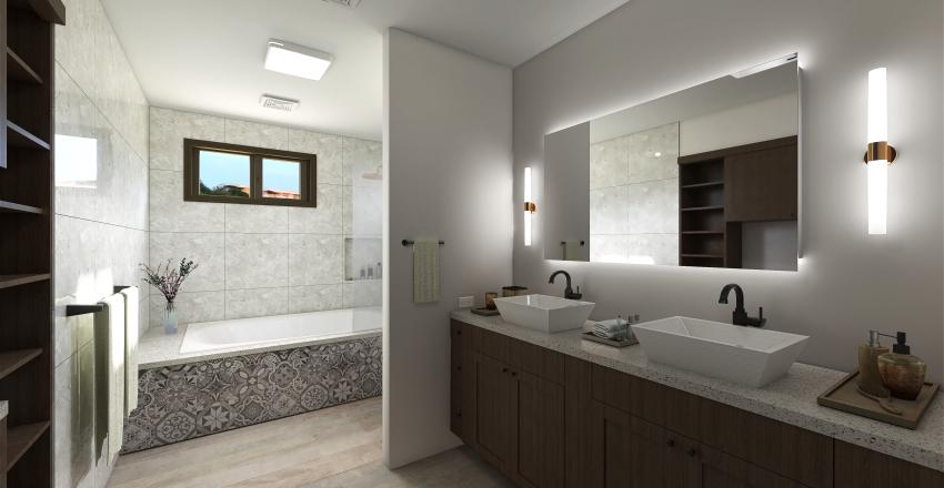 Sustainable Bathroom  Interior Design Render
