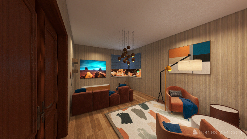 Просто комната Interior Design Render