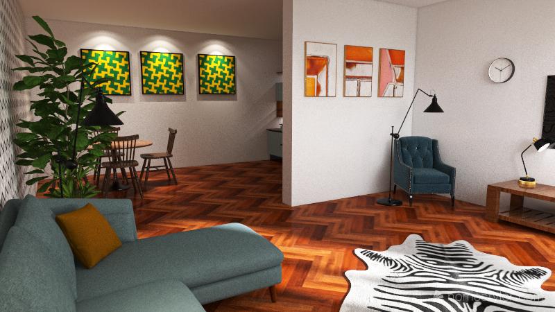 80s Interior Design Render