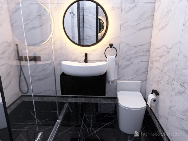 BW łazienka Interior Design Render