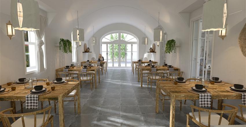 Pequeño hotel Mediterráneo Interior Design Render