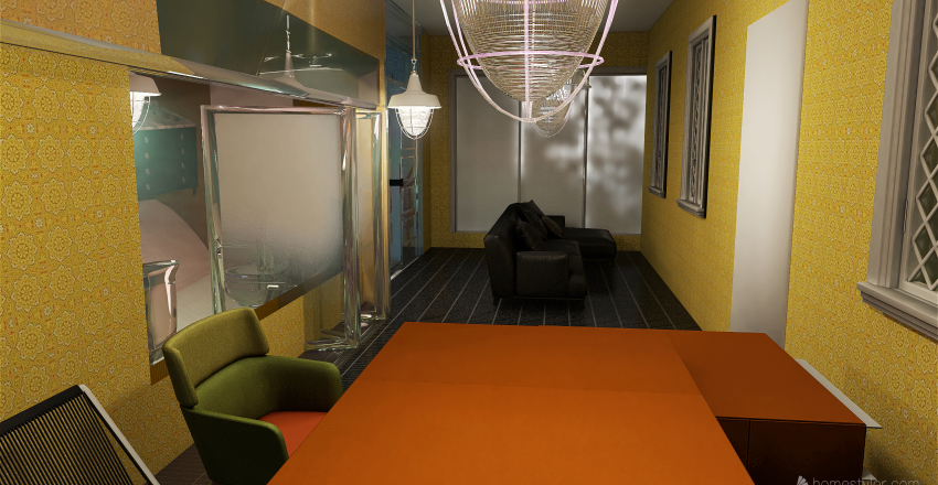 The States Vegetarian Indian Restaurant(Newly Renovated!) Interior Design Render