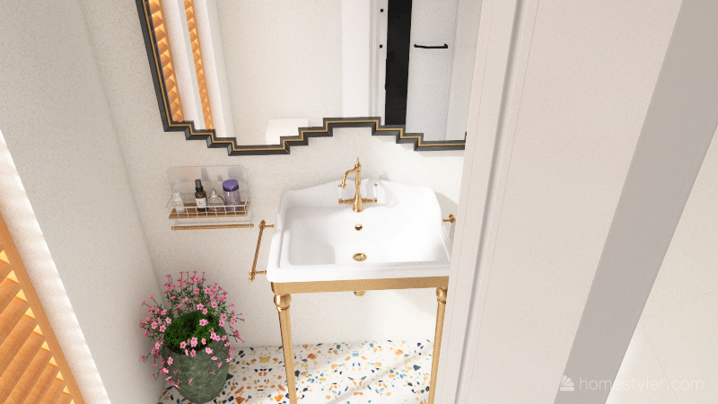 small apartment 2. Interior Design Render