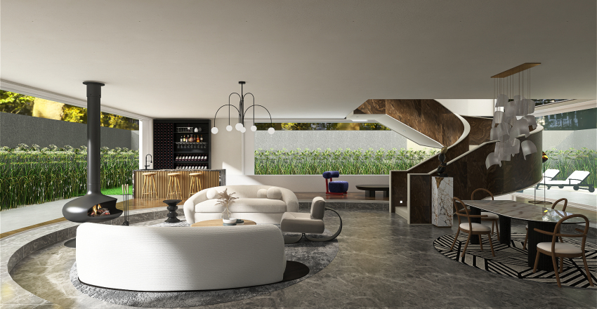 Unplug villa Interior Design Render
