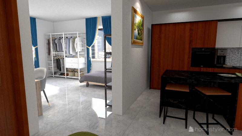 Apto para dos Interior Design Render