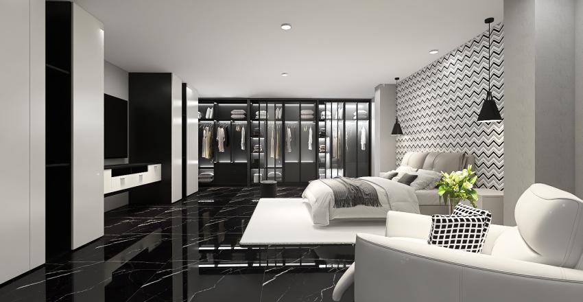 Minimalist and Modern Bedroom Interior Design Render