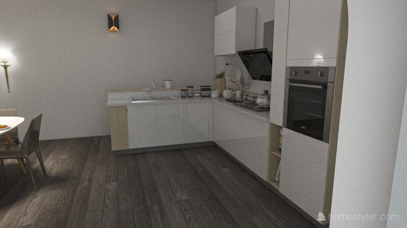 apartamentucho Interior Design Render