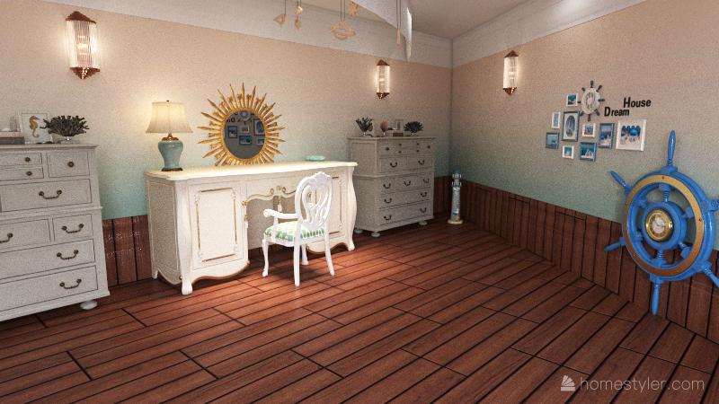 Rackham Beach House Interior Design Render