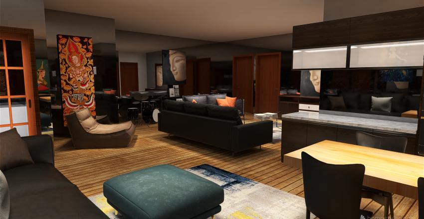 Aiden 2 Bed 2 Bath Interior Design Render