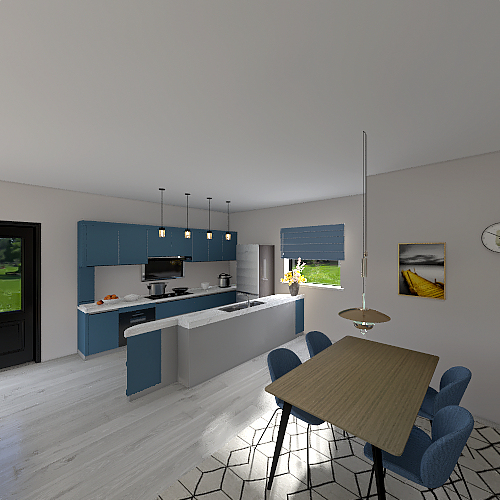 Detouched house in Athens Interior Design Render