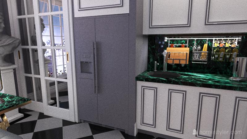 new roof space Interior Design Render