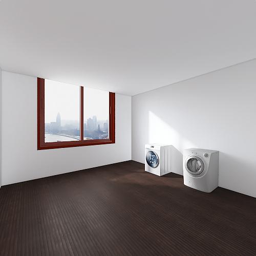 two bed/one bath Interior Design Render