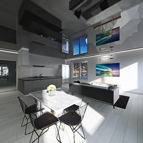 WHouse Interior Design Render