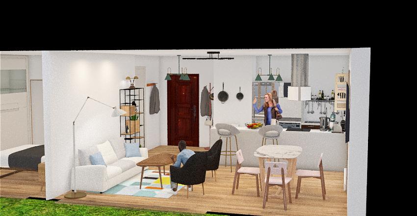 Rue beliard Cusine V 4 Interior Design Render