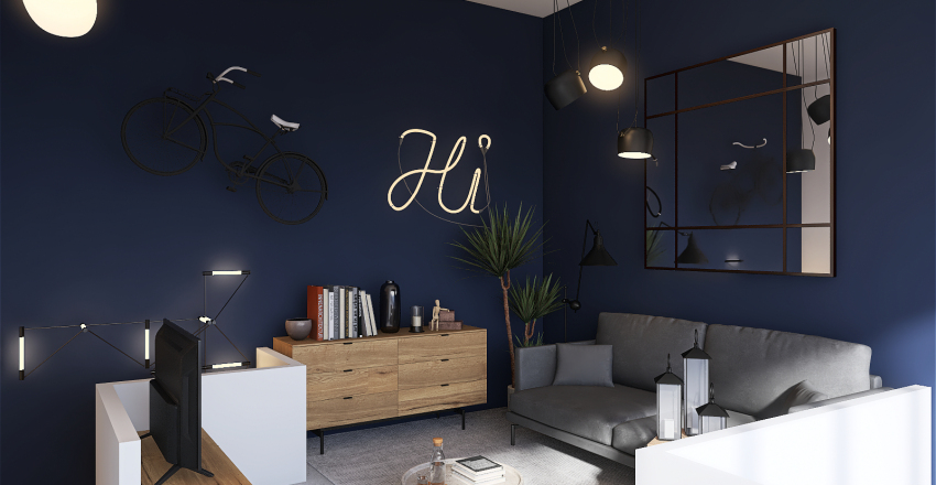 APPARTEMENT AVEC MEZZANINE Interior Design Render