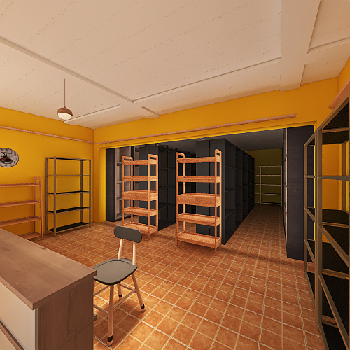 TRABAJO EX-AULA-SCC Interior Design Render