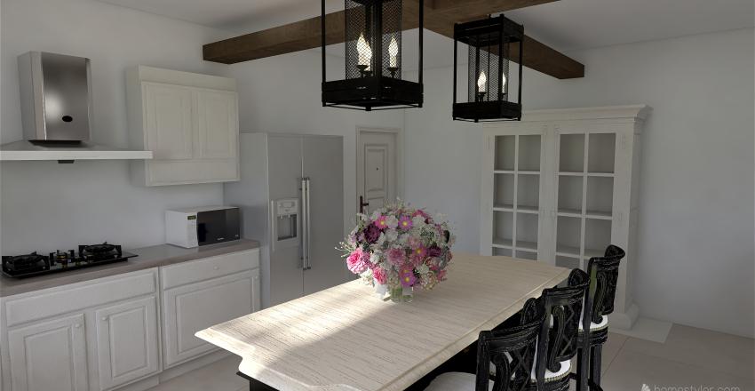 Mock Tudor Kitchen Interior Design Render