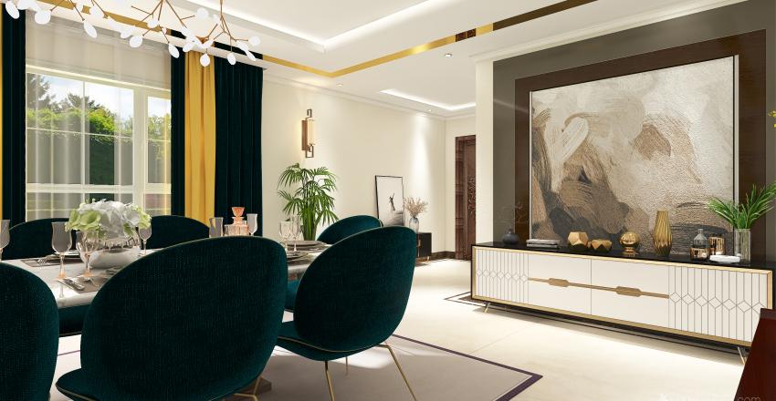 contemporary style Interior Design Render