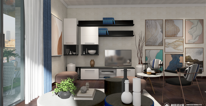 No Style in the city Interior Design Render