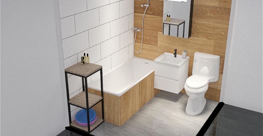 Copy of Gajowicka lazienka drewno Interior Design Render
