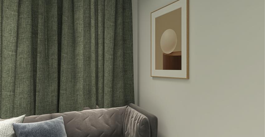 Green Livingroom Interior Design Render