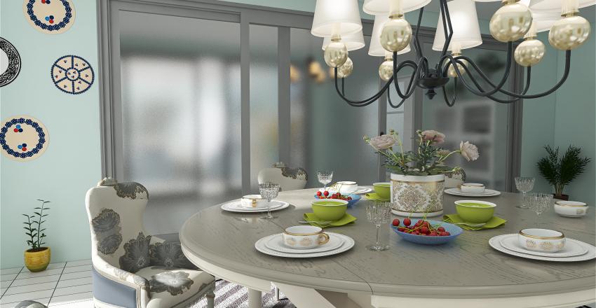 Spanish  Colonial style Interior Design Render