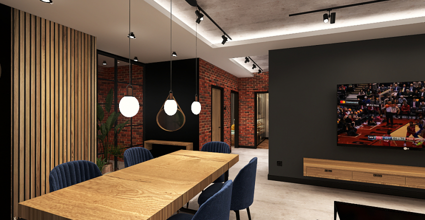 LOFT Zmiany Interior Design Render