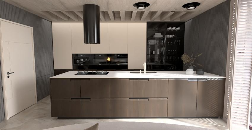 Apartamento pequeño Interior Design Render