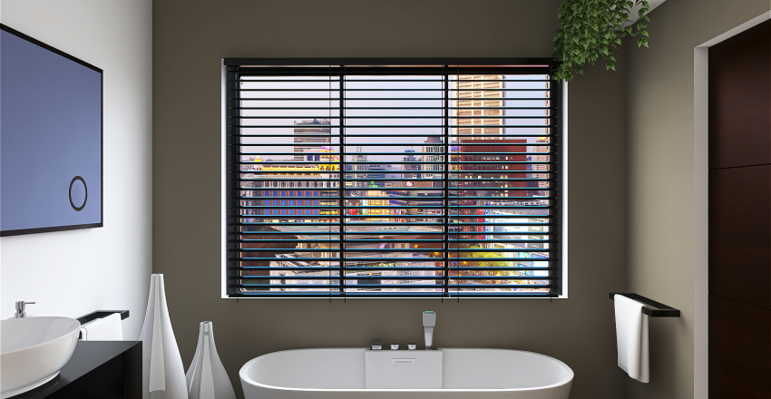 Modern Bathroom Interior Design Render
