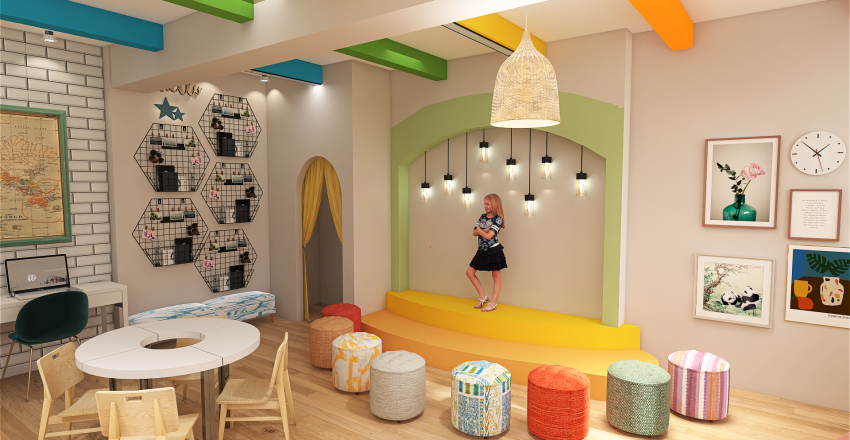 Classroom Design Interior Design Render