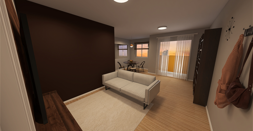 Apartamento do Cauê Interior Design Render