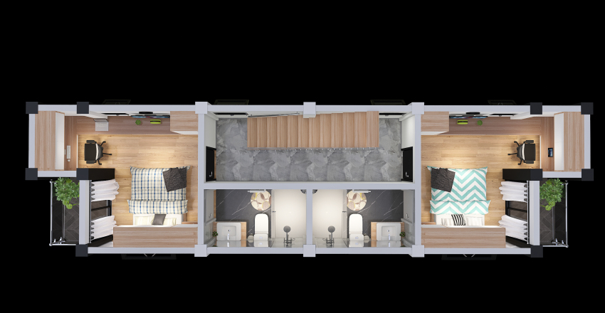 4ta. Planta Interior Design Render