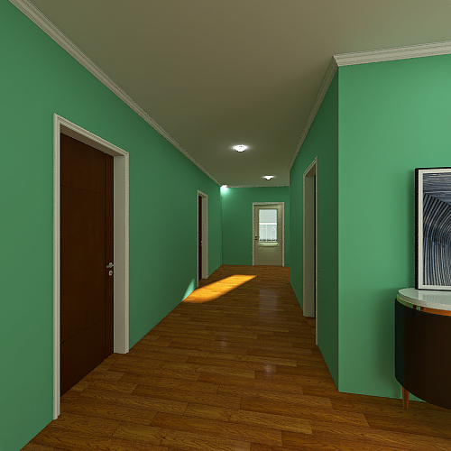 A Simple and Typical House Interior Design Render