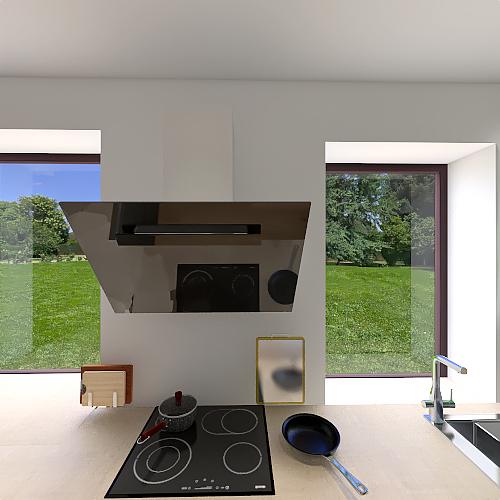 roof of 1st flore Interior Design Render