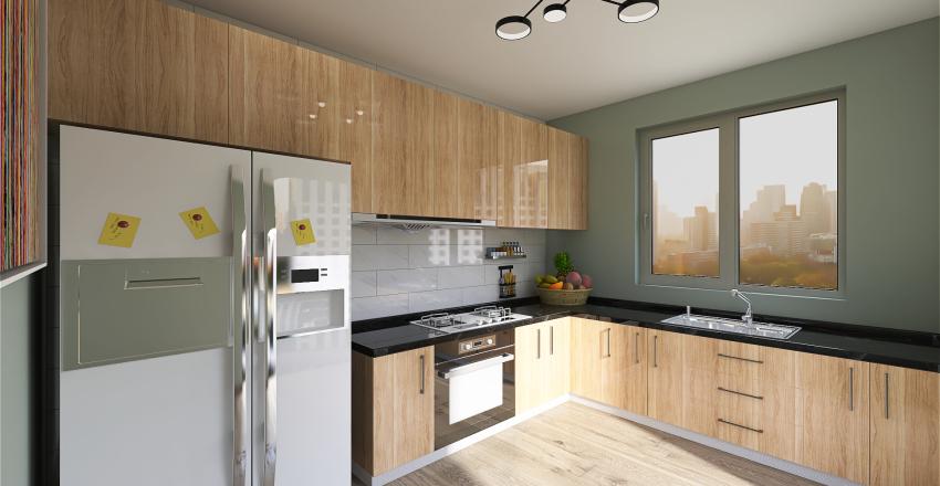 Small Kitchen Interior Design Render