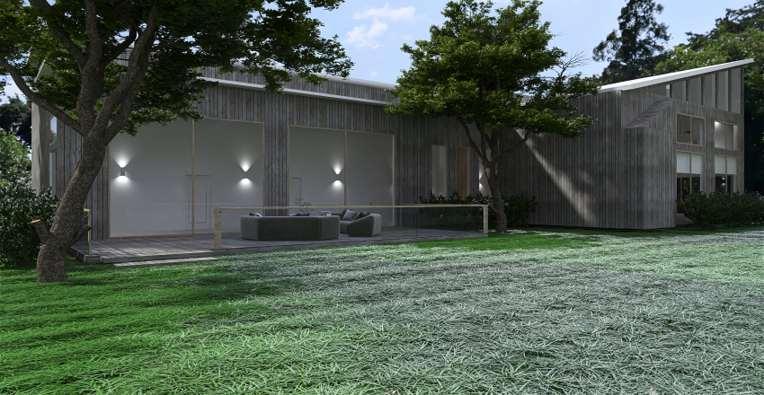 Scandi Country Villa Interior Design Render