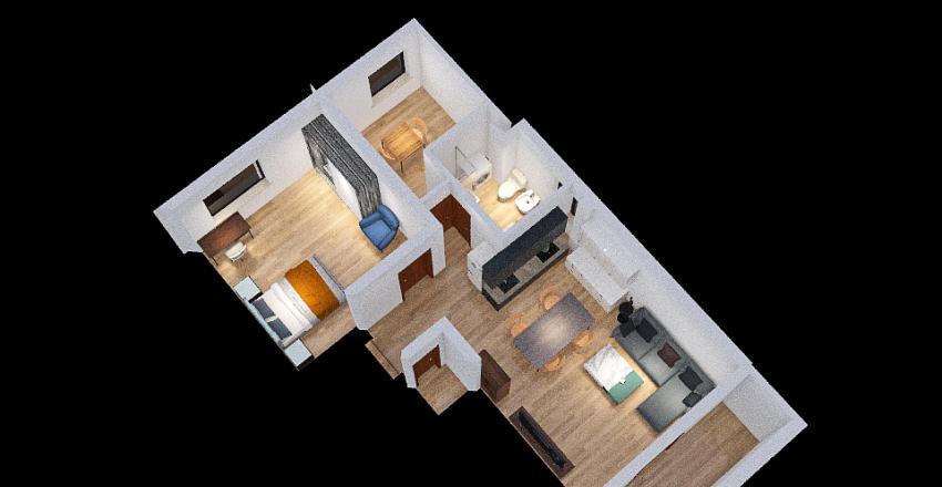 bagno stretto Interior Design Render