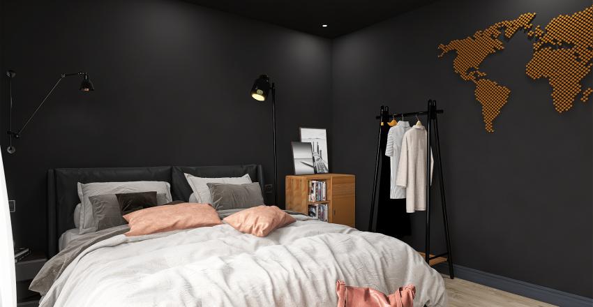 72 Sqm Industrial Interior Design Render