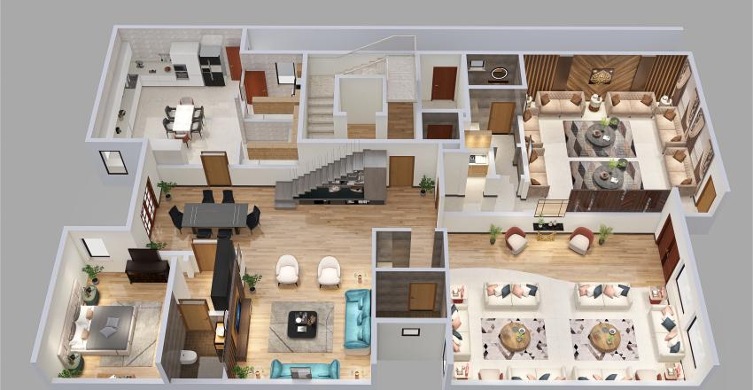villa 1 ground floor Interior Design Render