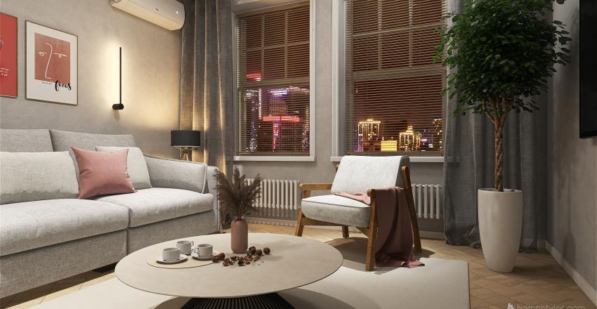 Проект 4  Двушка + Interior Design Render