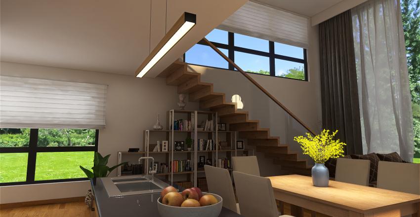 μικρο σπιτι με 4 επιπεδα Interior Design Render
