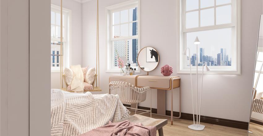 Sakura ~ Teenage Girl's Bedroom Interior Design Render