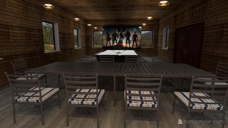 Quincho Interior Design Render