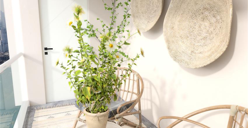 Bohemian Apartment Interior Design Render