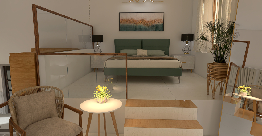 Open space apartment Interior Design Render