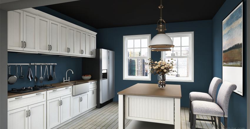 blue house :) Interior Design Render