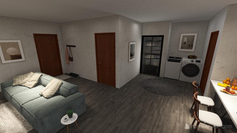 2 bed 2 bath Interior Design Render