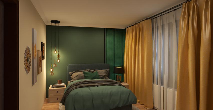 dormitor matrimonial Interior Design Render